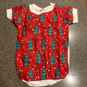NWOT Reindeer & Trees Holiday Pajamas FOR YOUR DOG